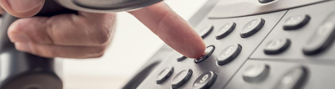 Dialling buttons on a phone keypad